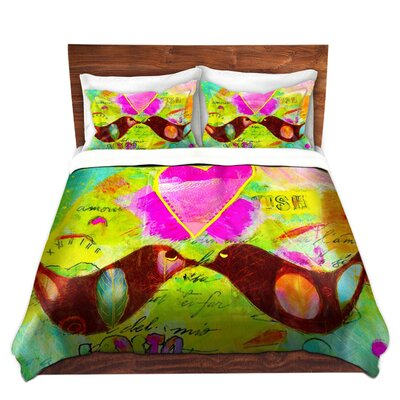 Love Birds Duvet Set Size: Queen