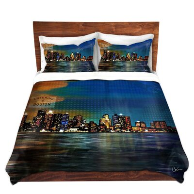 City Night Scene Duvet Set Size: King
