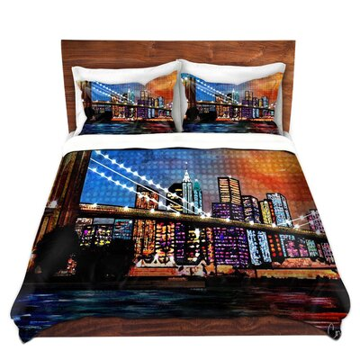 City Scene Bridge Duvet Set Size: Twin