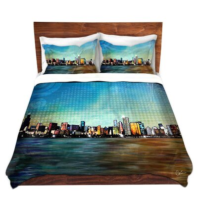 Chicago Skyline Duvet Set Size: Queen