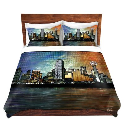 Dallas Skyline Duvet Set Size: King