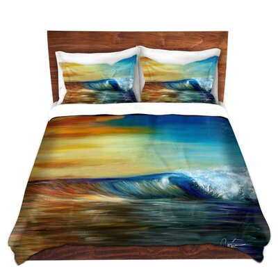 Ocean Wave Duvet Set Size: Queen