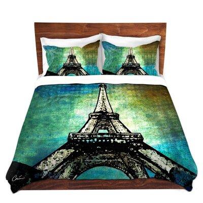 Eiffel Tower Duvet Set Size: Queen