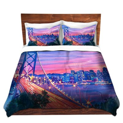San Francisco Nights Duvet Set Size: Queen