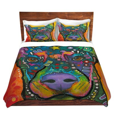Doberman Dog 17 Duvet Set Size: Queen