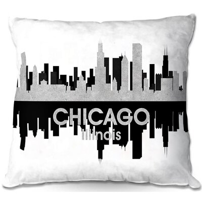Chicago Illinois Throw Pillow Size: 22 H x 22 W x 5 D