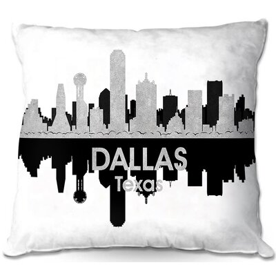 Dallas Texas Throw Pillow Size: 20 H x 20 W x 5 D
