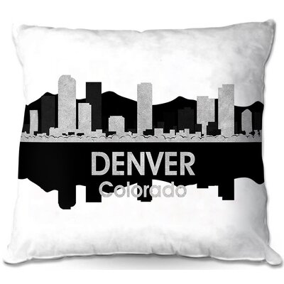 Denver Colorado Throw Pillow Size: 22 H x 22 W x 5 D
