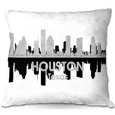 Houston Texas Throw Pillow Size: 16
