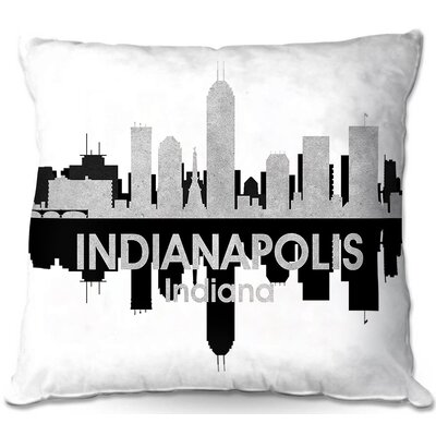 Indianapolis Indiana Throw Pillow Size: 18