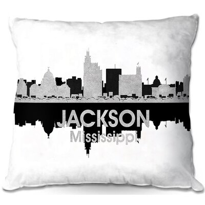 Jackson Mississippi Throw Pillow Size: 18 H x 18 W x 5 D
