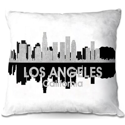 Los Angeles California Throw Pillow Size: 16 H x 16 W x 4 D