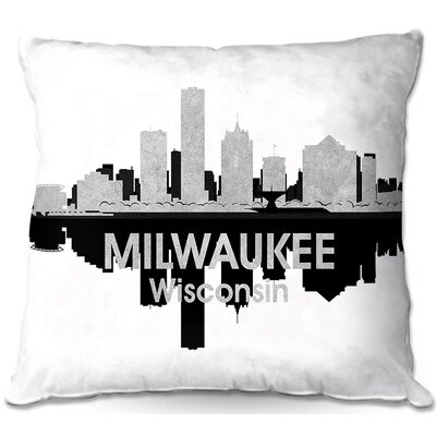 Milwaukee Wisconsin Throw Pillow Size: 16 H x 16 W x 4 D