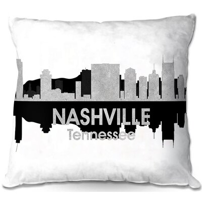 Nashville Tennessee Throw Pillow Size: 16 H x 16 W x 4 D