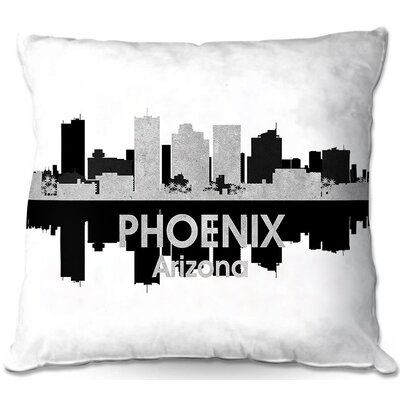 Phoenix Arizona Throw Pillow Size: 16