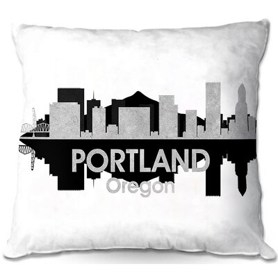 City IV Portland Oregon Throw Pillow Size: 22 H x 22 W x 5 D