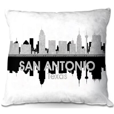 San Antonio Texas Throw Pillow Size: 16 H x 16 W x 4 D