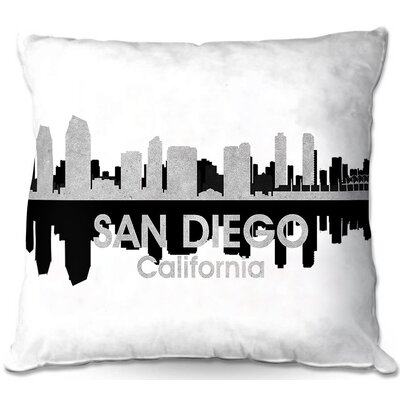San Diego California Throw Pillow Size: 22 H x 22 W x 5 D