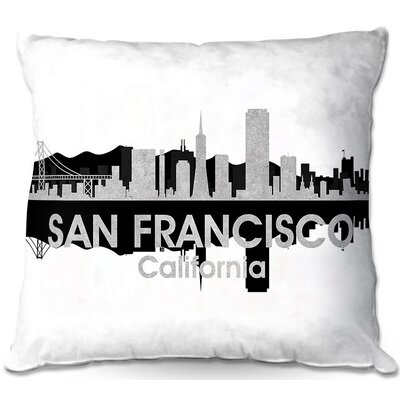 San Francisco California Throw Pillow Size: 22 H x 22 W x 5 D