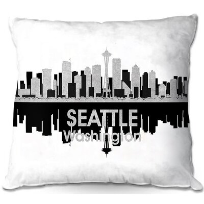 Seattle Washington Throw Pillow Size: 22 H x 22 W x 5 D