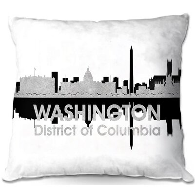 City IV Washington DC Throw Pillow Size: 22 H x 22 W x 5 D