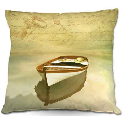 Boat Throw Pillow Size: 16 H x 16 W x 4 D