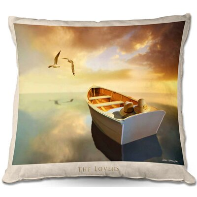 The Lovers Birds and Boats Throw Pillow Size: 16 H x 16 W x 4 D