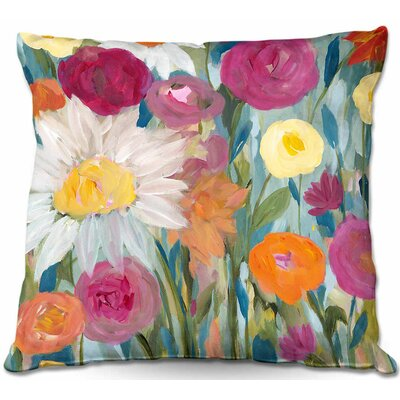 Earth at Daybreak Flowers Throw Pillow Size: 16 H x 16 W x 4 D