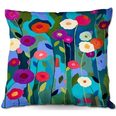 Good Morning Sunshine Flowers Throw Pillow Size: 16 H x 16 W x 4 D