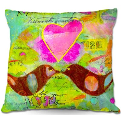 Love Birds Throw Pillow Size: 20 H x 20 W x 5 D