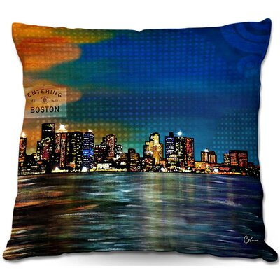 Entering Boston Throw Pillow Size: 16 H x 16 W x 4 D