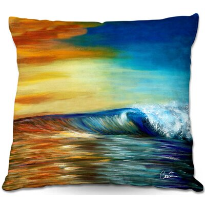 Wave Throw Pillow Size: 20 H x 20 W x 5 D