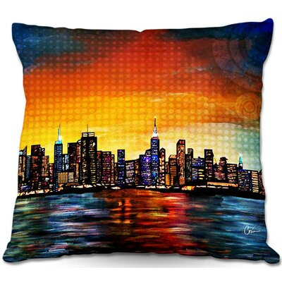 New York Skyline Throw Pillow Size: 16 H x 16 W x 4 D