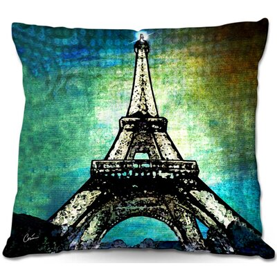 Eiffel Tower Throw Pillow Size: 22 H x 22 W x 5 D