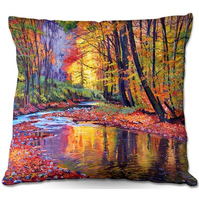Floral Square Throw Pillow Size: 16 H x 16 W x 4 D