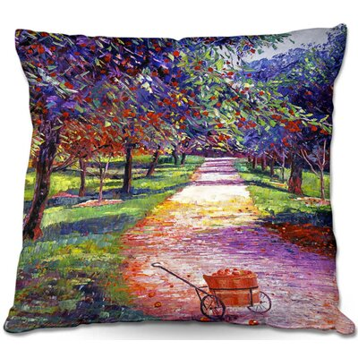 French Apple Orchards Throw Pillow Size: 18 H x 18 W x 5 D