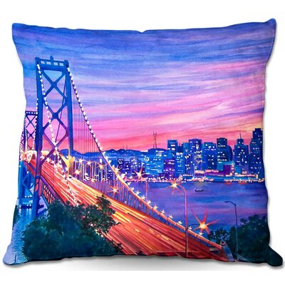San Francisco Nights Throw Pillow Size: 16 H x 16 W x 4 D