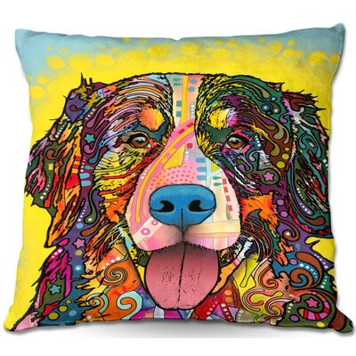 Dog Throw Pillow Size: 22 H x 22 W x 5 D
