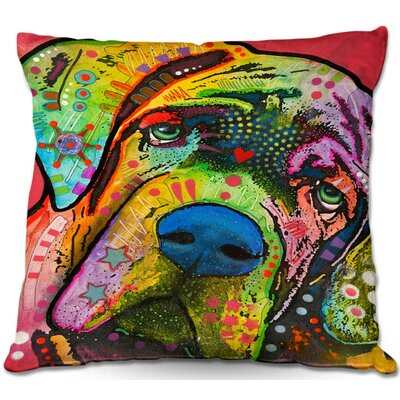 Dog Square Throw Pillow Size: 18 H x 18 W x 5 D