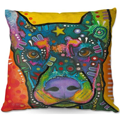 Doberman Dog 17 Throw Pillow Size: 22 H x 22 W x 5 D