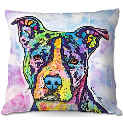 Illustrious Pitbull Dog Throw Pillow Size: 18 H x 18 W x 5 D