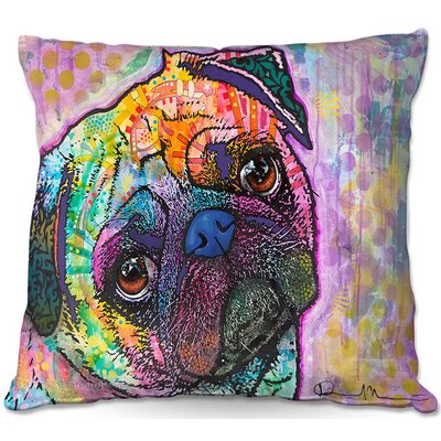 Pug Love Dog Throw Pillow Size: 16 H x 16 W x 4 D