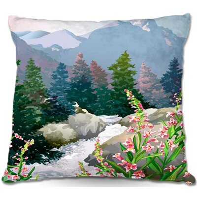 Mountain Stream Throw Pillow Size: 22 H x 22 W x 5 D