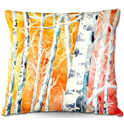 Falling For Trees Throw Pillow Size: 16 H x 16 W x 4 D