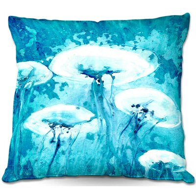 Luminous Jelly Fish Throw Pillow Size: 22 H x 22 W x 5 D