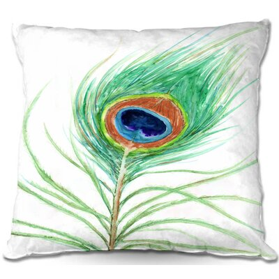 Peacock Feather Throw Pillow Size: 16 H x 16 W x 4 D