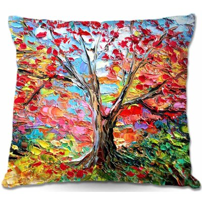 Story of the Tree 59 Throw Pillow Size: 16 H x 16 W x 4 D
