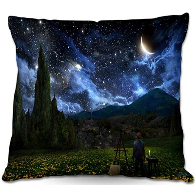Starry Night Throw Pillow Size: 16 H x 16 W x 4 D
