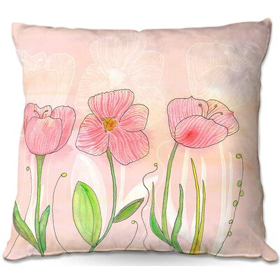 Flower Throw Pillow Size: 16 H x 16 W x 4 D