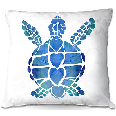 Turtle Throw Pillow Size: 16